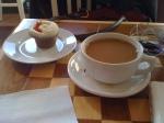 My coffee and cupcake